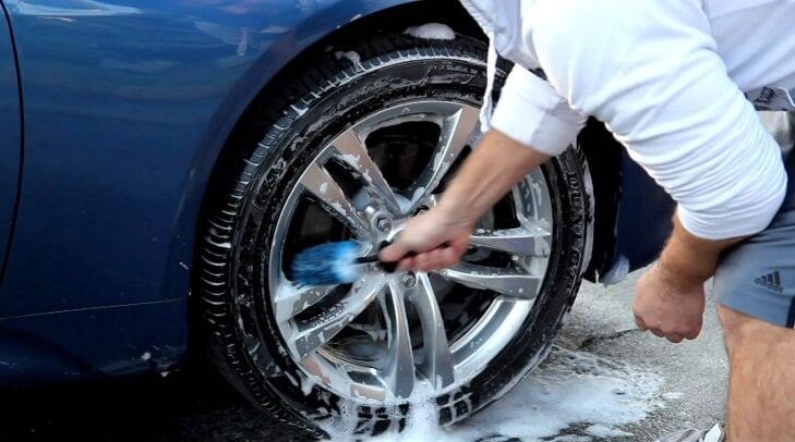 Scrub The Rims And Tires