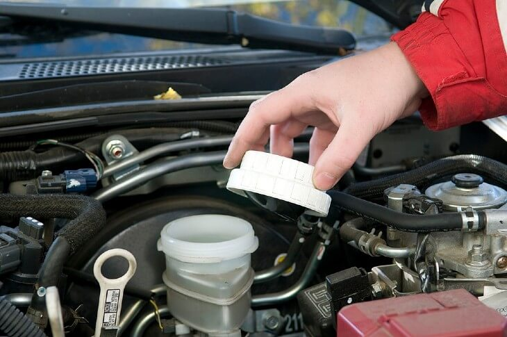 Check your car's brake fluid