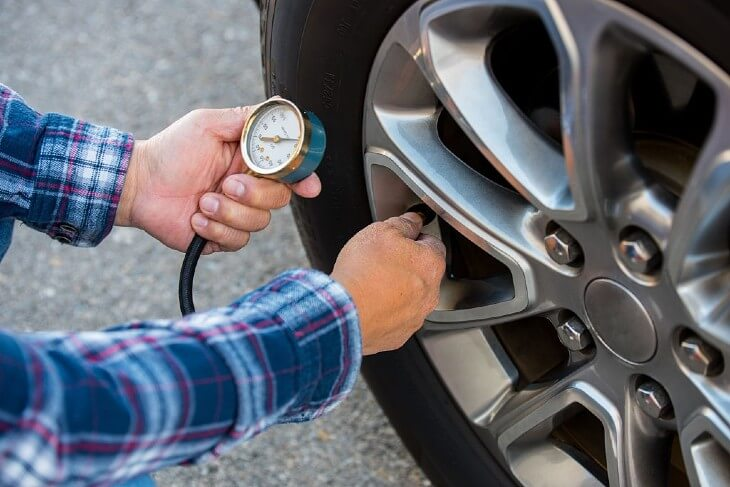 Inspect Tire Pressure And Tread Depth