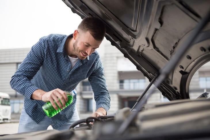 You should replenish coolant or antifreeze liquid in your car