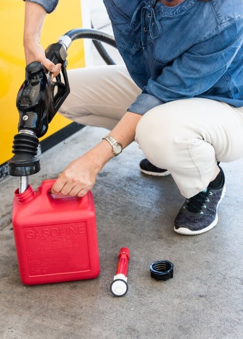 Red containers should be used for gasoline